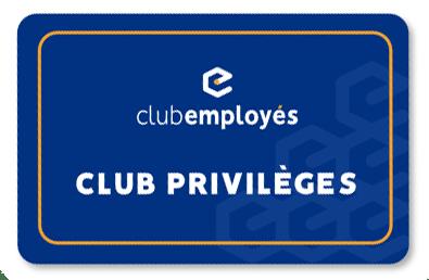 Club Employés carte Privilèges
