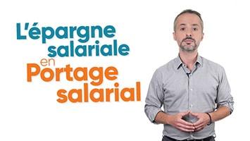 Homme présentant l'épargne salariale en Portage salarial