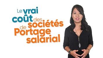 Femme présentant le vrai coût des sociétés de Portage salarial