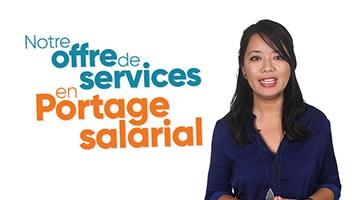 Femme présentant l'offre de service en Portage salarial de Prium Portage