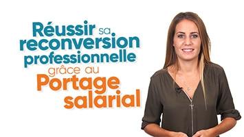 Femme présentant la Reconversion professionnelle grâce au Portage salarial
