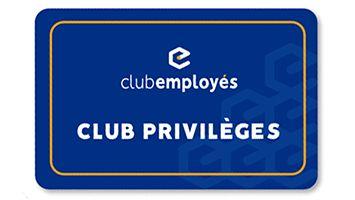 Carte Club Privilèges de couleur bleue