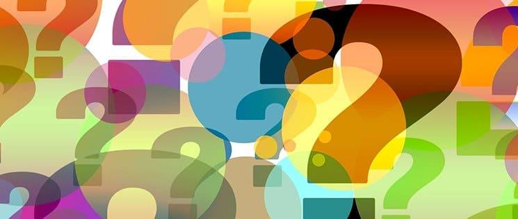 Image en couleur avec des points d'interrogation