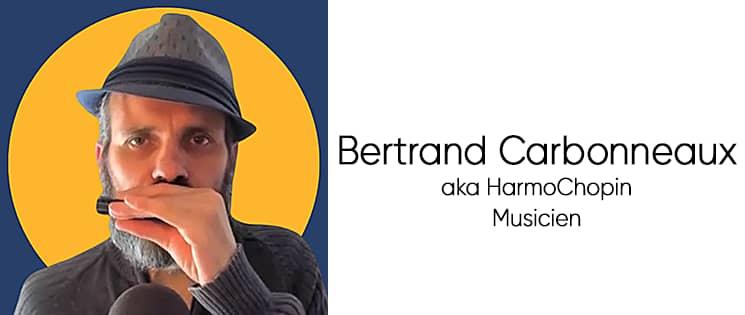 Photo portrait de Bertrand Carbonneaux aka HarmoChopin, musicien