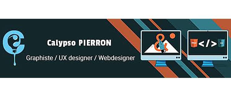 Carte de visite de Calypso Pierron, graphiste, UX designer et Webdesigner