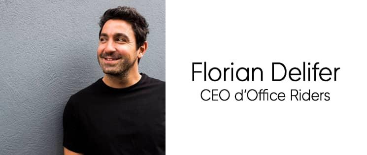 Photo portrait de Florian Delifer, CEO d'Office Riders