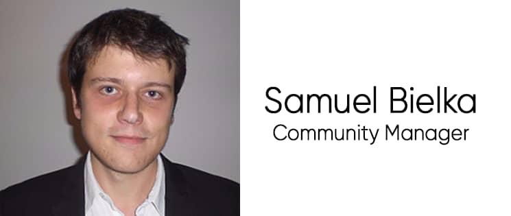 Photo portrait de Samuel Bielka, community manager