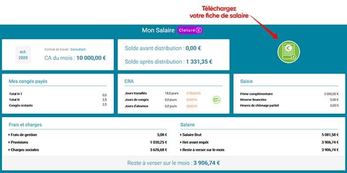 Une nouvelle interface Salaire avec la possibilité de télécharger votre fiche de salaire