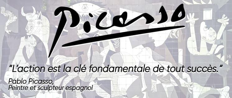 Citaction de Picasso