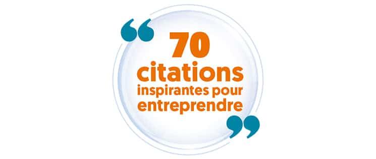 """Médaillon """"70 citations inspirantes pour entreprendre"""""""
