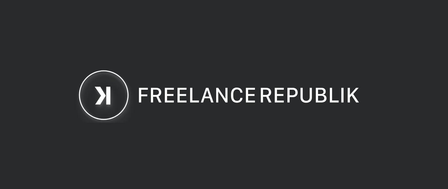 Logo Freelance Republik sur fond noir