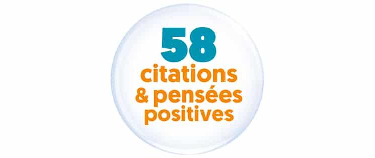 """Macaron intégrant la phrase """"58 citations et pensées positives"""""""